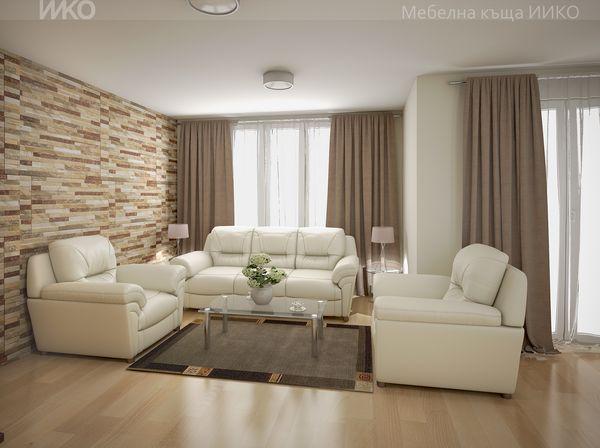 Професионален интериорен дизайн за хол с мебели по поръчка