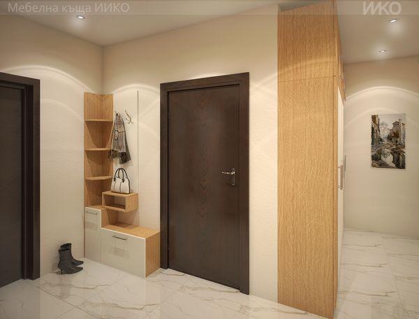 Модерен дом с мебели по поръчка с високо качество